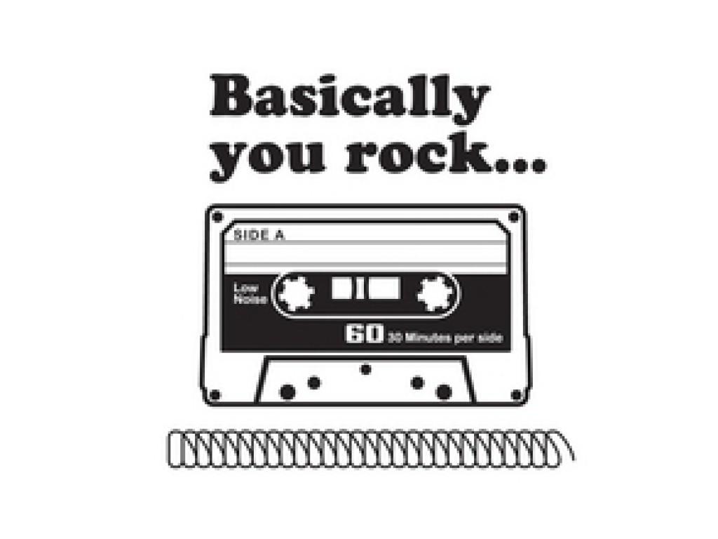 "Akriliniai antspaudukai ""Vintage Tee - You rock"""