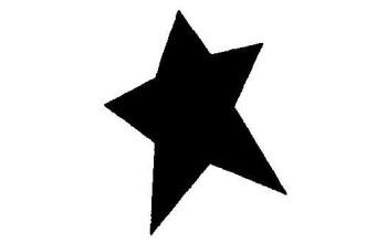 """Dek. skylamušis """"Star 22x25mm"""""""