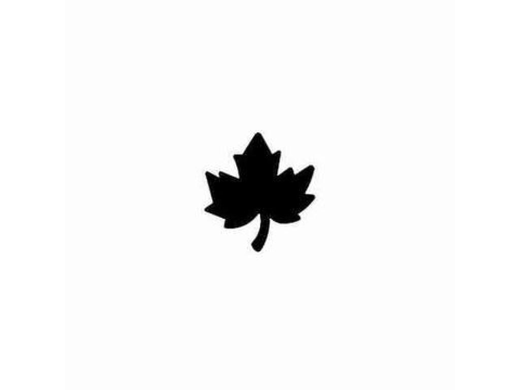 """Dek. skylamušis """"Maple Leaf 22x25mm"""""""