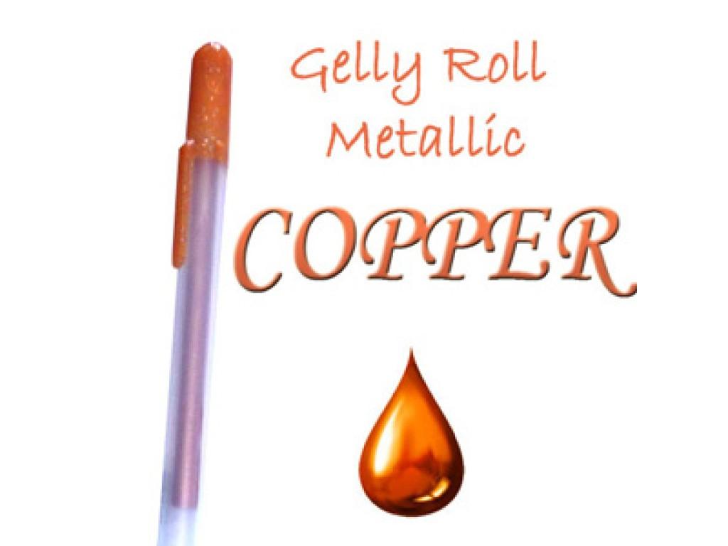 "Gelinis metalizuotas rašiklis ""Vario / Copper Metallic"""
