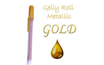 "Gelinis metalizuotas rašiklis ""Auksinis / Gold Metallic"""