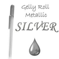 "Gelinis metalizuotas rašiklis ""Sidabrinis / Silver Metallic"""
