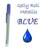 """Gelinis metalizuotas rašiklis """"Mėlynas / Blue Metallic"""""""