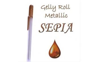 """Gelinis metalizuotas rašiklis """"Rudas / Sepia Metallic"""""""