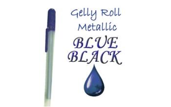 """Gelinis metalizuotas rašiklis """"Tamsiai mėlynas / Blue Black Metallic"""""""