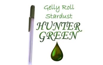 """Gelinis metalizuotas rašiklis """"Tamsiai žalias / Hunter Green Metallic"""""""