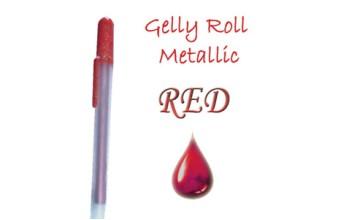 """Gelinis metalizuotas rašiklis """"Raudonas / Red Metallic"""""""