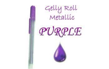 """Gelinis metalizuotas rašiklis """"Violetinis / Purple Metallic"""""""