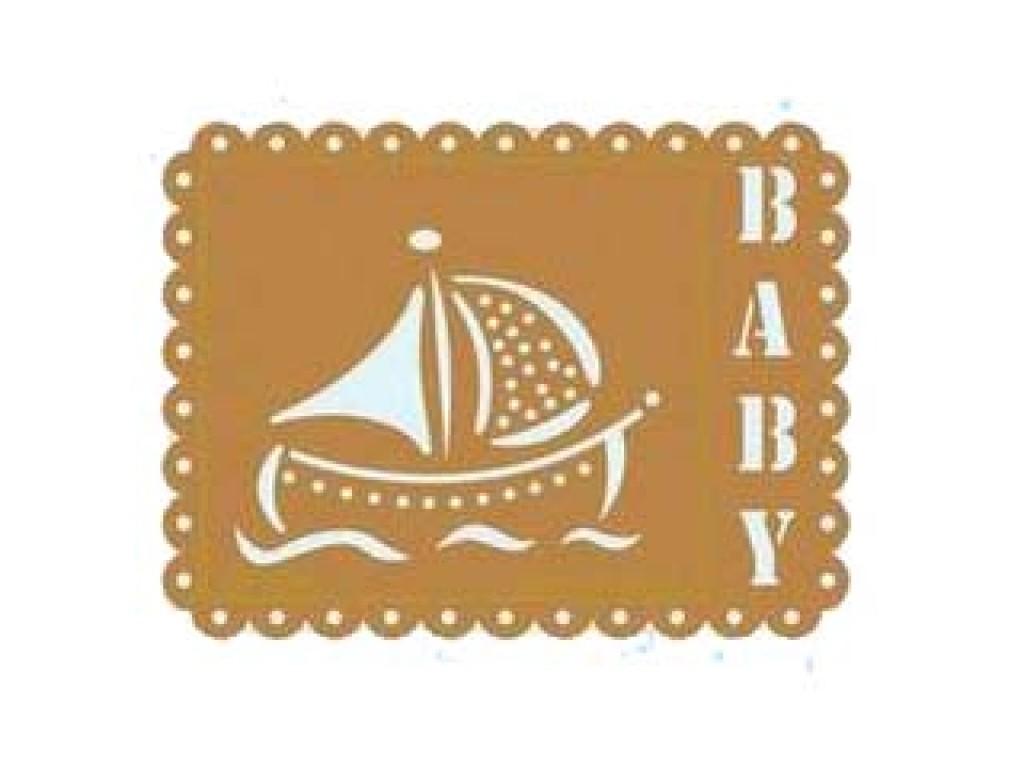 """Metalinis trafaretas """"boat baby"""""""