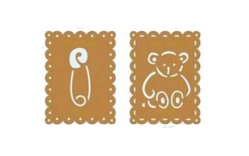 "Metalinis trafaretas ""bear and pin"""