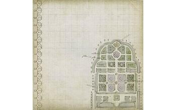"""Popierius """"DCWV: Chateau lavender-12"""""""