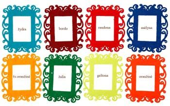 Priklijuojamas veltinio rėmelis, įvairių spalvų