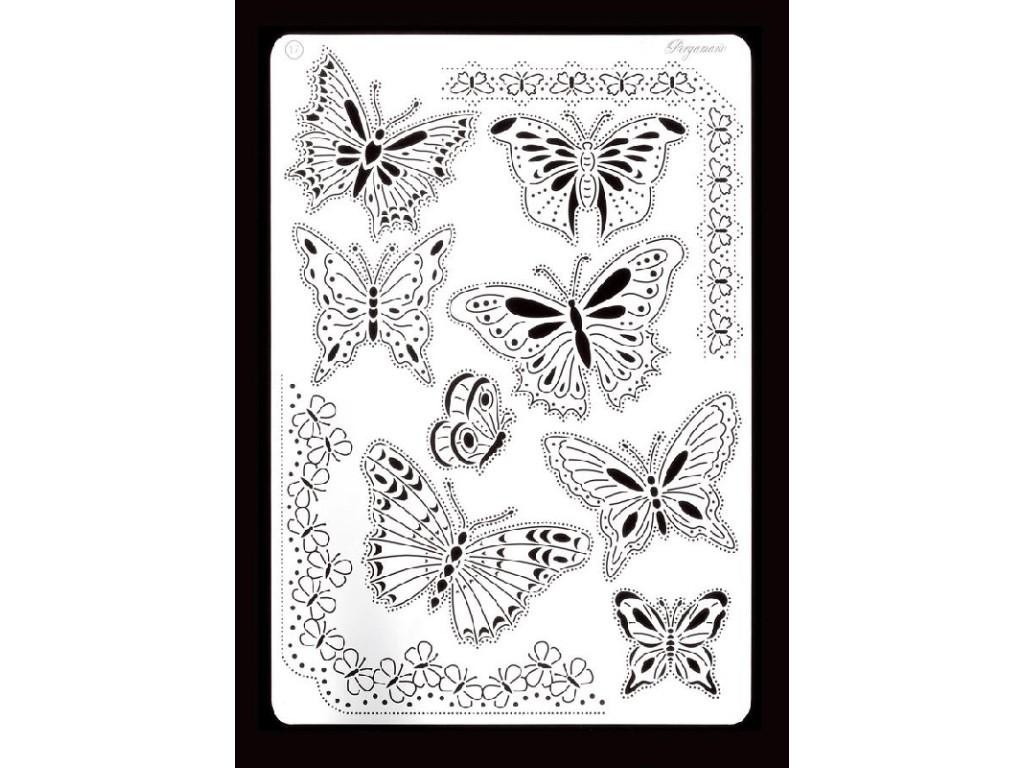 "Trafaretas Nr.17 ""Butterflies A5"""