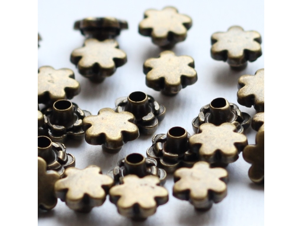 "Kniedės ""Eyelets Antique Gold Rivets Flower"", 25vnt."