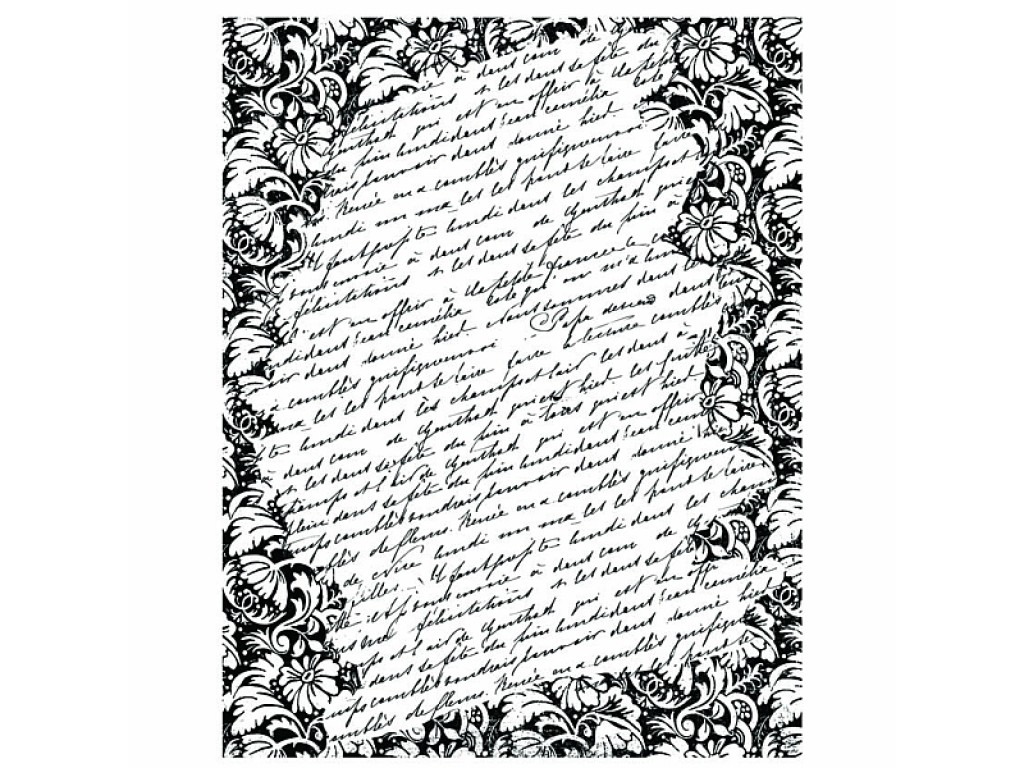 """Guminis antspaudukas """"Basic Grey: Kissing Booth - Tapestry Script Background"""""""