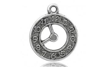 """Metalinis pakabukas """"Antikinio sidabro laikrodukas"""", 1vnt."""