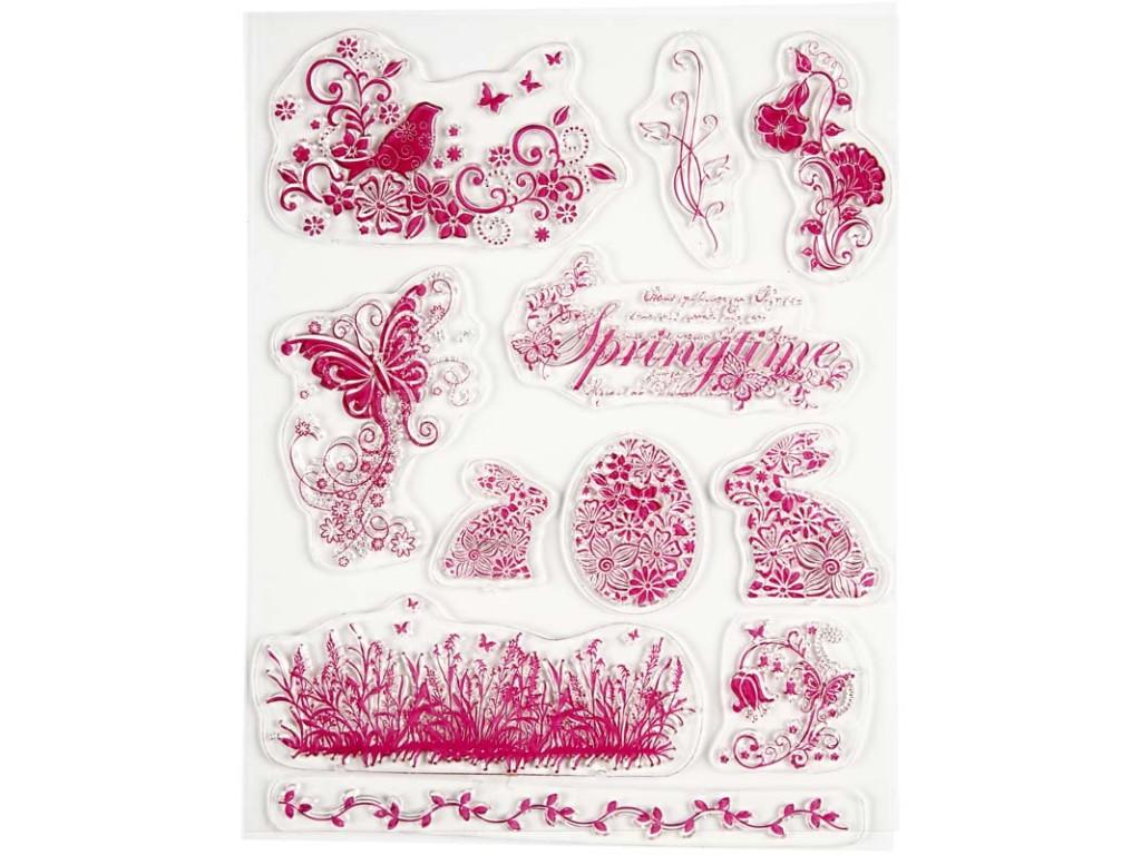"""Akriliniai antspaudukai """"Springtime and easter bunnies"""""""