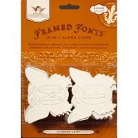 "Kartoninės formelės ""nature butterfly Framed Fonts"""