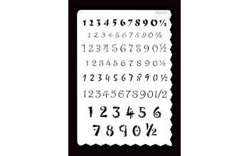 """Trafaretas Nr.18 """"numbers, A5"""""""