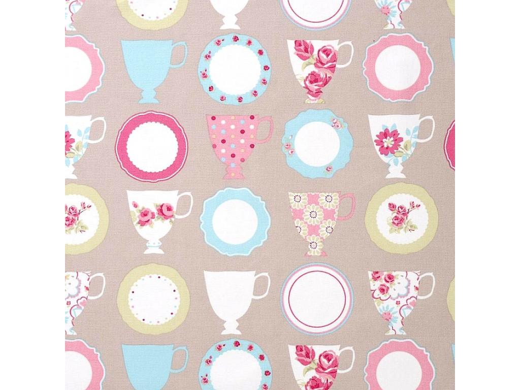 """Audinys """"Abbygale: Teacups Taupe"""", 137x50cm"""