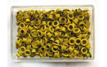 "Kniedės ""Mini eyelets rings yellow"", 200vnt."
