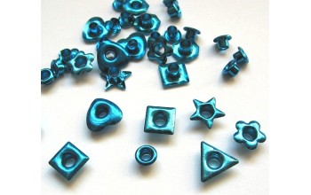 "Kniedės ""Fun-shapes metallic light blue"""
