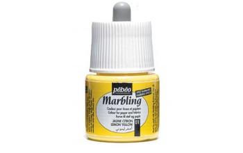 """Marmuravimo dažai """"Pebeo Marbling: Lemon Yellow"""", 45ml"""