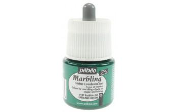 "Marmuravimo dažai ""Pebeo Marbling: Emerald Green"", 45ml"