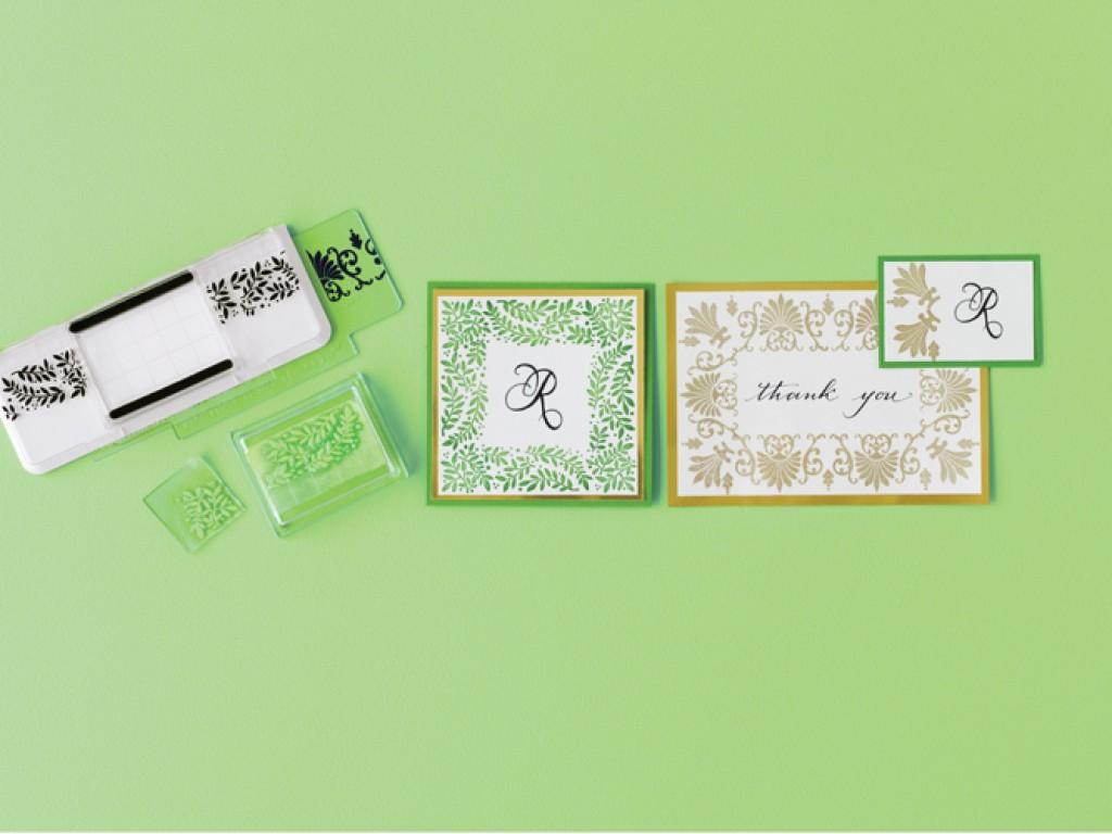 """Akrilinių antspaudukų rinkinys """"Stamp Around the page Flourish And Leaves"""""""