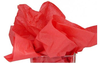 """Tissue šilko popierius """"Raudona / Red"""", 25vnt."""