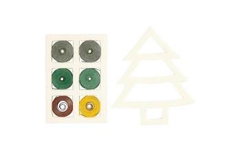 """Kvilingo juostelių rinkinys """"Green/Yellow Harmony Tree"""""""