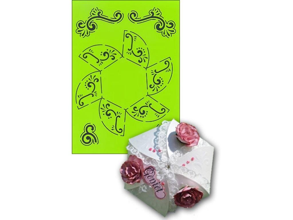 "Plastikinis trafaretas ""Hexagon Box"""