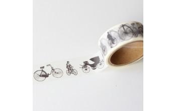 """Lipni popierinė juostelė """"Tissue tape: Bicycles-2"""""""