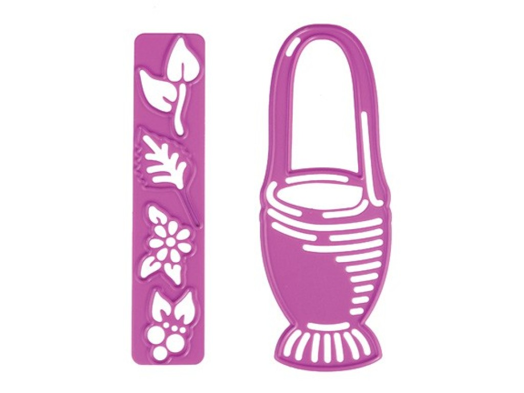 """Kirtimo ir reljefo formelė """"Basket with flowers 2"""""""