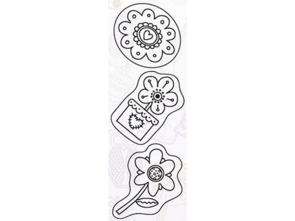 """Akriliniai antspaudukai """"Flower Power"""""""