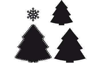 """Kirtimo ir reljefo formelė """"Craftables Christmas Tree"""""""