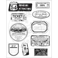 "Akriliniai antspaudukai ""Labels And Tickets"""