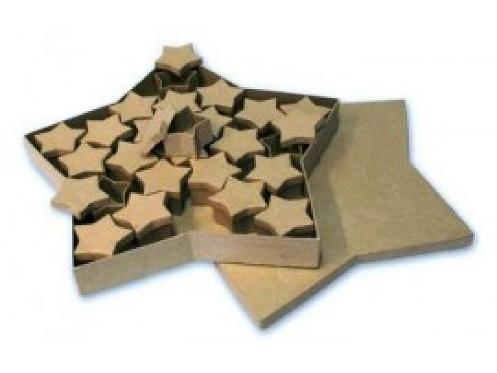 "Kartoninė dėžutė ""Star maxi"", 1vnt."