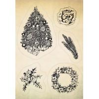 """Akriliniai antspaudukai """"Christmas tree and wreath"""""""