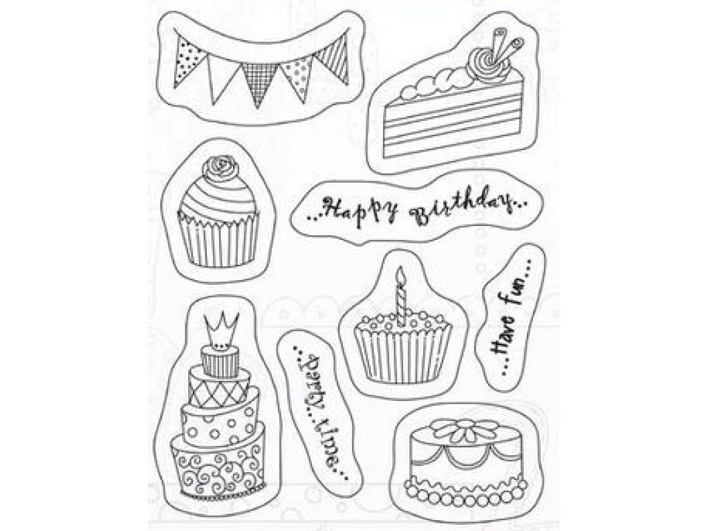 """Akriliniai antspaudukai """"Cake Festoon"""""""