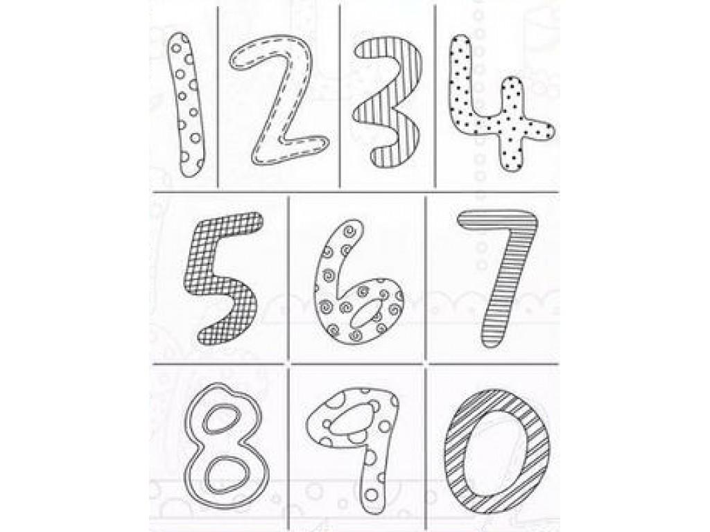 """Akriliniai antspaudukai """"Doodle Numbers"""""""