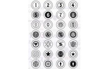 """Akriliniai antspaudukai """"Button Numbers"""""""
