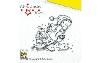 """Akriliniai antspaudukai """"Helping Santa"""""""