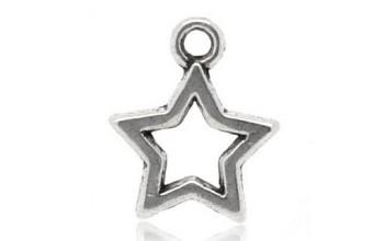 """Metalinis pakabukas """"Antikinio sidabro žvaigždė"""", 1vnt."""