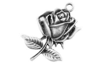 """Metalinis pakabukas """"Antikinio sidabro rožė"""", 1vnt."""