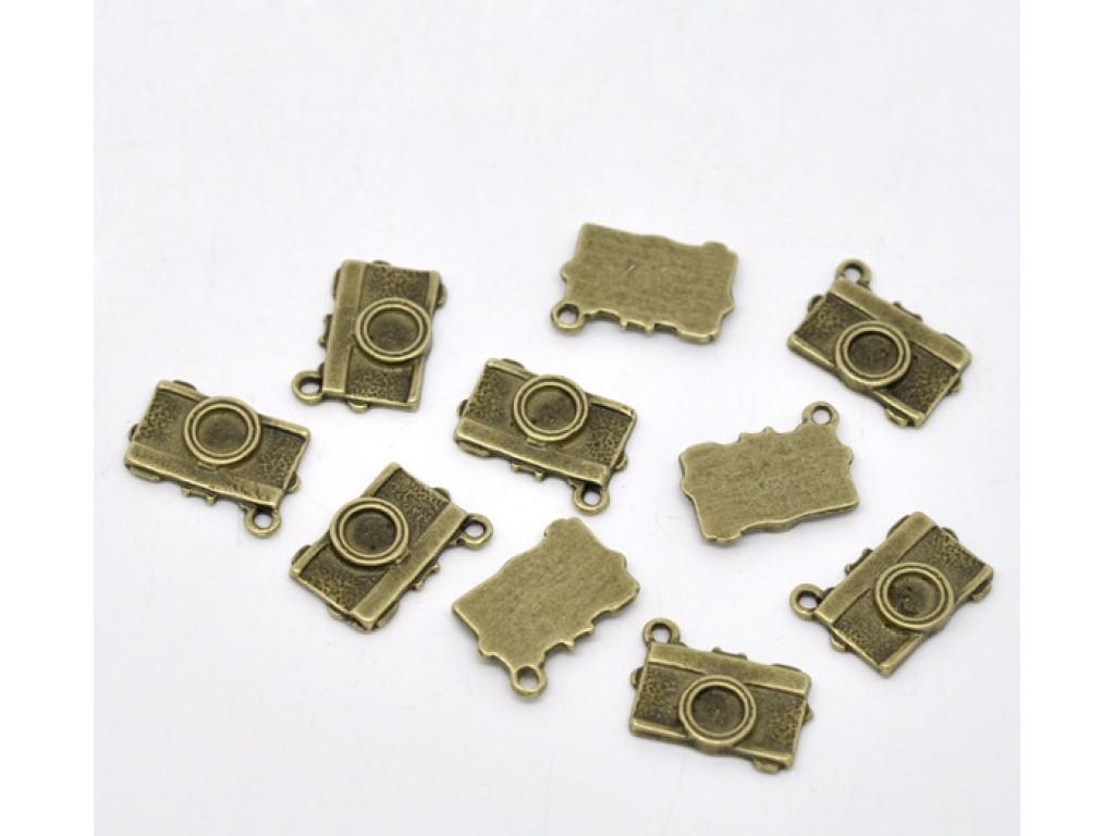 """Metalinis pakabukas """"Antikinio žalvario fotoaparatas"""", 1vnt."""