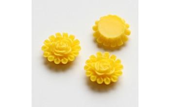 """Akrilinis kabošonas """"Geltona gėlytė"""", 1vnt."""
