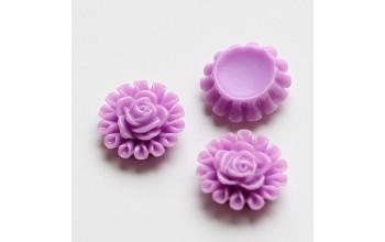 "Akrilinis kabošonas ""Violetinė gėlytė"", 1vnt."