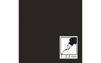 "Juodas rašiklis porceliano/stiklo dekoravimui ""Black"", 1-2,5mm"