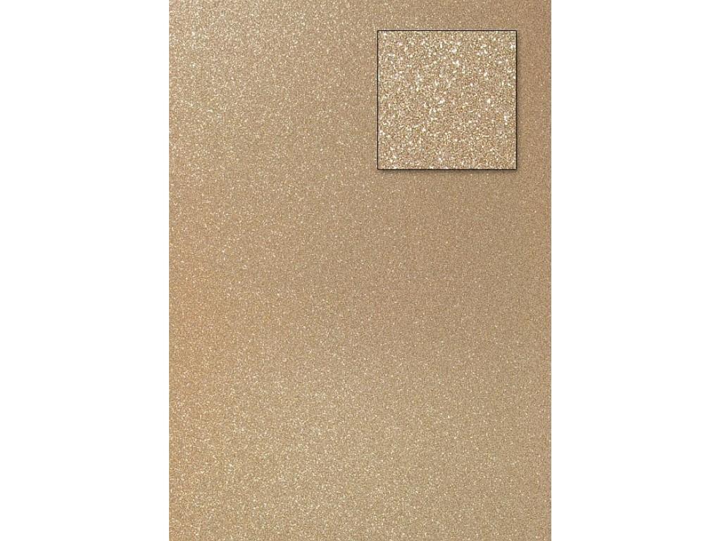 "A4 kartonas su blizgesiu ""Glitter bright gold"""
